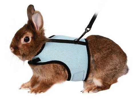 Trixie шлейка-жилетка для кроликов, полиэстер/нейлон (1 шт)