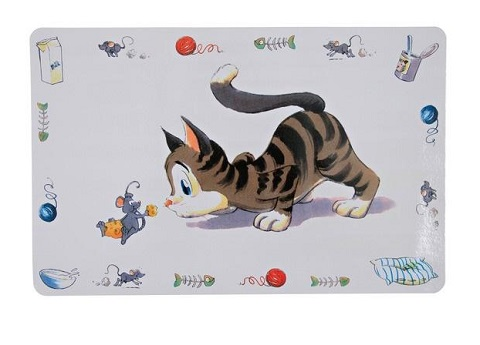 Trixie коврик под миску «кошка» (44 х 28 см)