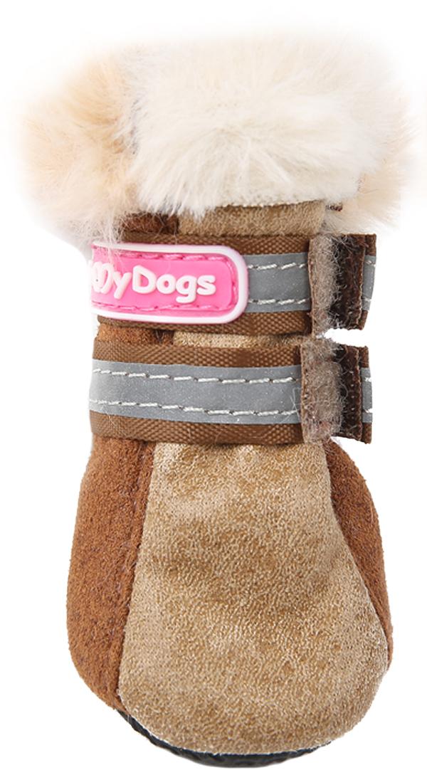 For My Dogs сапоги для собак зимние коричневые Fmd642-2019 Bg (1)