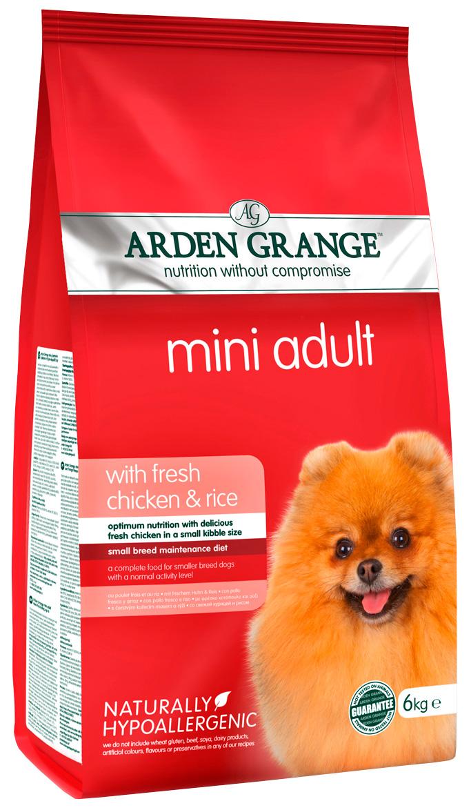 Arden Grange Adult Mini Chicken  Rice для взрослых собак маленьких пород с курицей и рисом (6 кг).