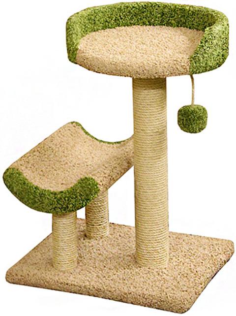 Когтеточка Кука Пушок ковролин бежевая с зеленым (1 шт)