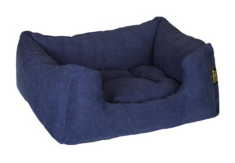 Pride лежак прямоугольный с высоким бортиком Резот синий 70 х 60 см (1 шт) фото
