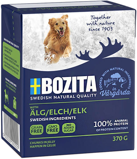 Bozita Naturals Elk In Jelly для собак и щенков с лосем в желе 370 гр (370 гр) bozita mini canned food for cats pieces in jelly poultry 6 190 g