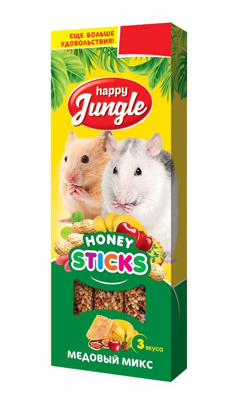 Happy Jungle палочки для мелких грызунов микс 3 вкуса (3 шт) фото