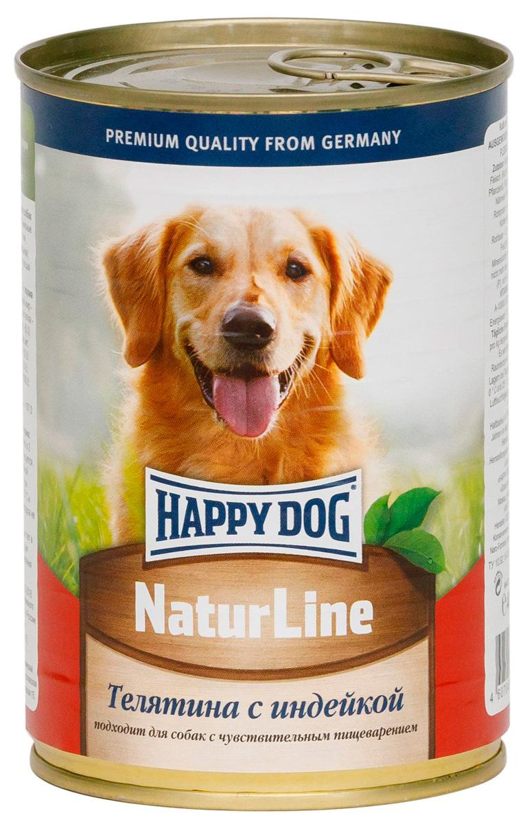 Happy Dog для взрослых собак с телятиной и индейкой 400 гр (400 гр) фото