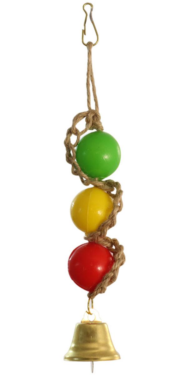 Игрушка для птиц Triol Шарики с колокольчиком (1 шт) игрушка для птиц triol br43 ромашки 19 см