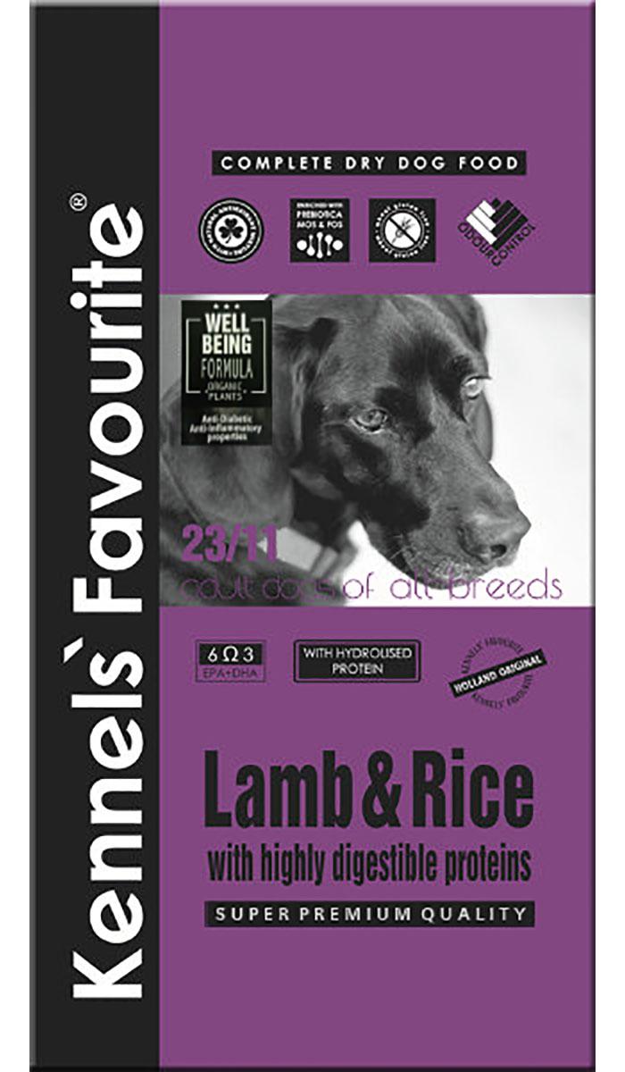 Купить со скидкой Kennels` Favourite Dog Adult Lamb & Rice для взрослых собак всех пород с ягненком и рисом (20 кг)