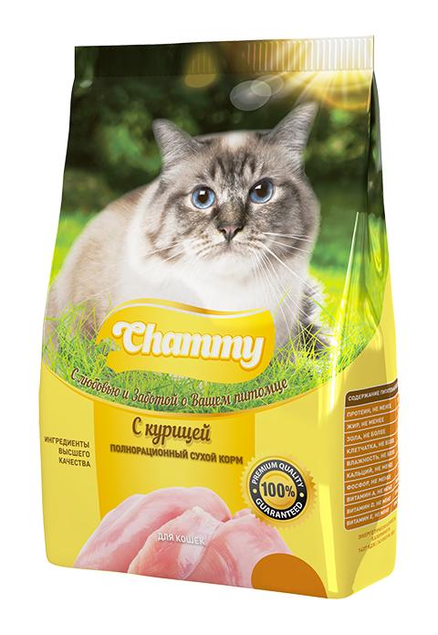 Chammy для взрослых кошек с курицей (0,35 кг)