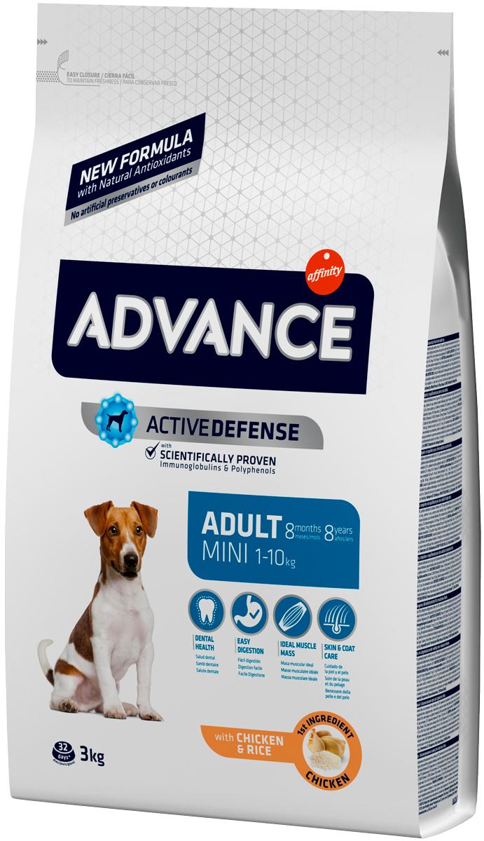 Advance Adult Mini Chicken & Rice для взрослых собак маленьких пород с курицей и рисом (0,8 кг)