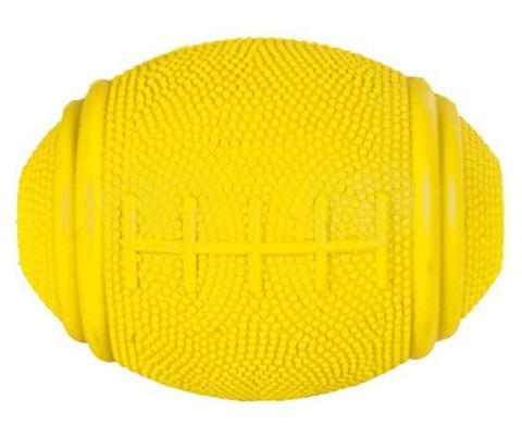 Trixie игрушка для собак мяч резиновый «Регби», для лакомств (8 см)