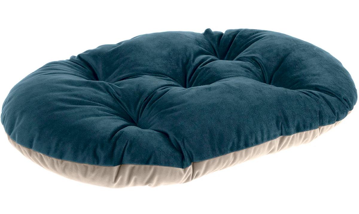 Подушка мягкая Ferplast Prince 45 велюр сине-бежевая 43 х 30 см (1 шт) ferplast ferplast prince cushion велюровая подушка для кошек и собак розово бежевая размер 45 45х30 см