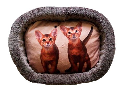 цена на Лежак для кошек PerseiLine Дизайн № 5 принт 11 овальный 55 х 47 х 16 см (1 шт)