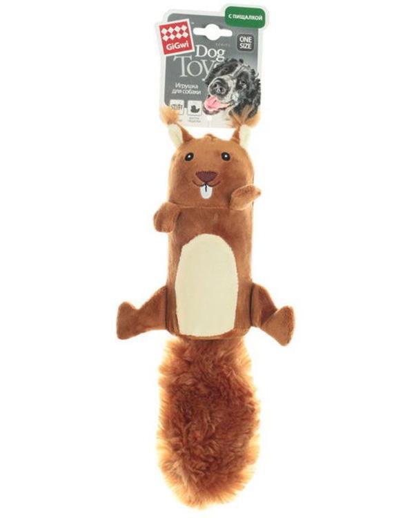 Игрушка для собак GiGwi Белка с большой пищалкой 32 см (1 шт)