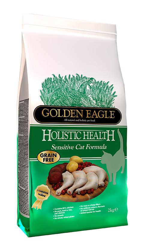 Golden Eagle Holistic Health Cat Adult Sensitive беззерновой для взрослых кошек при аллергии (4 + 4 кг)