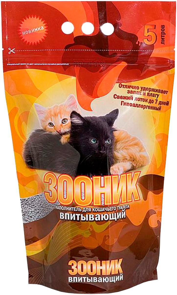 зооник впитывающий - наполнитель впитывающий для туалета кошек (5 л)