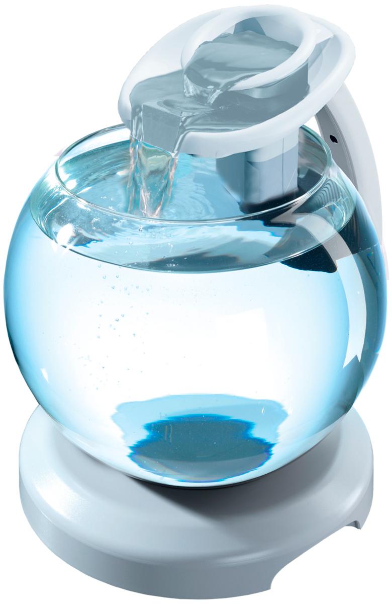Аквариум Tetra Cascade Globe Duo Waterfall круглый с Led светильником, цвет белый, 6,8 литра (1 шт)