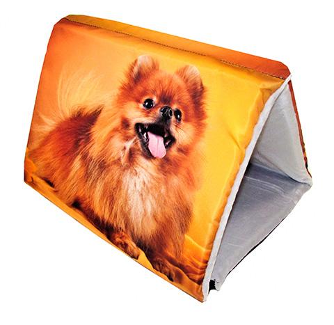 Дом для животных PerseiLine Дизайн Шалаш + лежак 2 в 1 Шпиц 46 х 36 х 36 см  (1 шт)