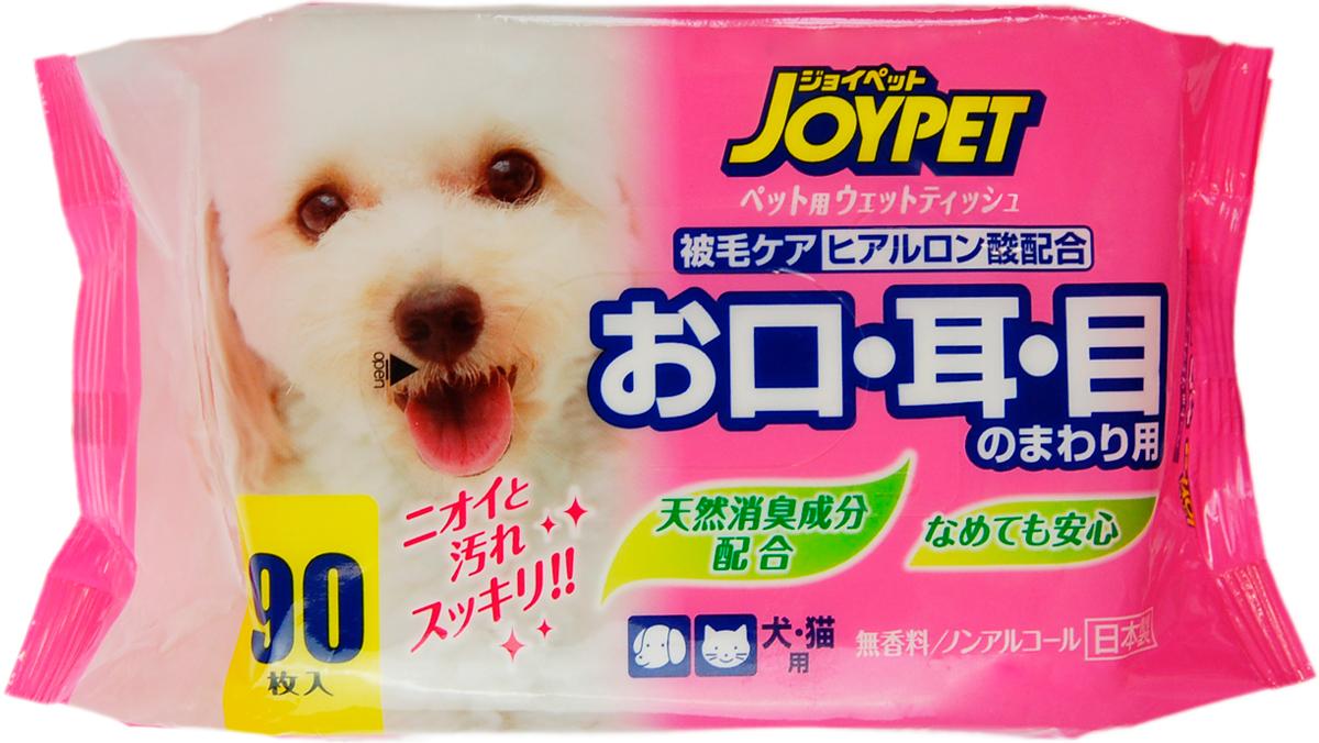 Влажные салфетки для базового ухода для собак и кошек Premium Pet Japan для ухода за пастью, ушами и глазами 90 шт (1 уп) салфетки teddy pets влажные для ухода за глазами и ушами для кошек и собак