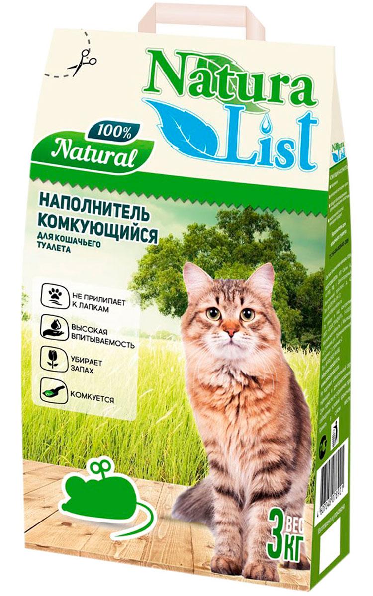 Фото - Naturalist наполнитель комкующийся для туалета кошек (3 кг) комкующийся наполнитель