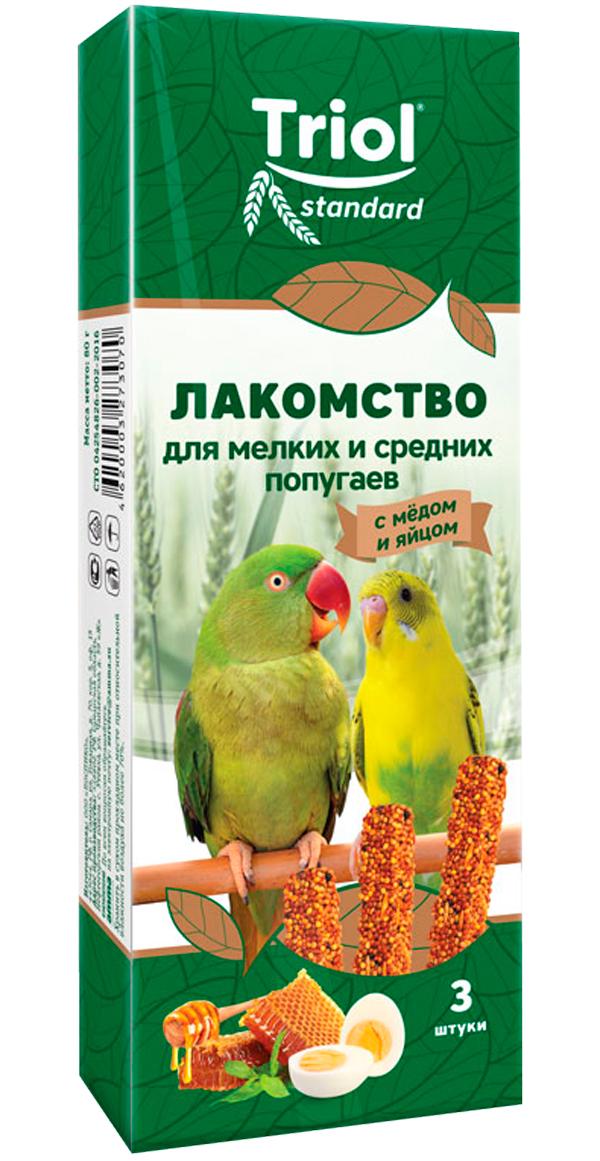 Triol Standard лакомство для средних и мелких попугаев с мёдом и яйцом (3 шт)