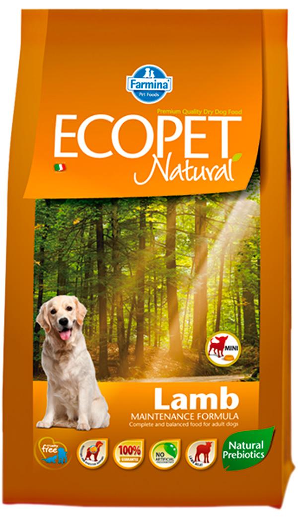 Ecopet Natural Adult Mini Lamb для взрослых собак маленьких пород с чувствительным пищеварением с ягненком (12 кг)