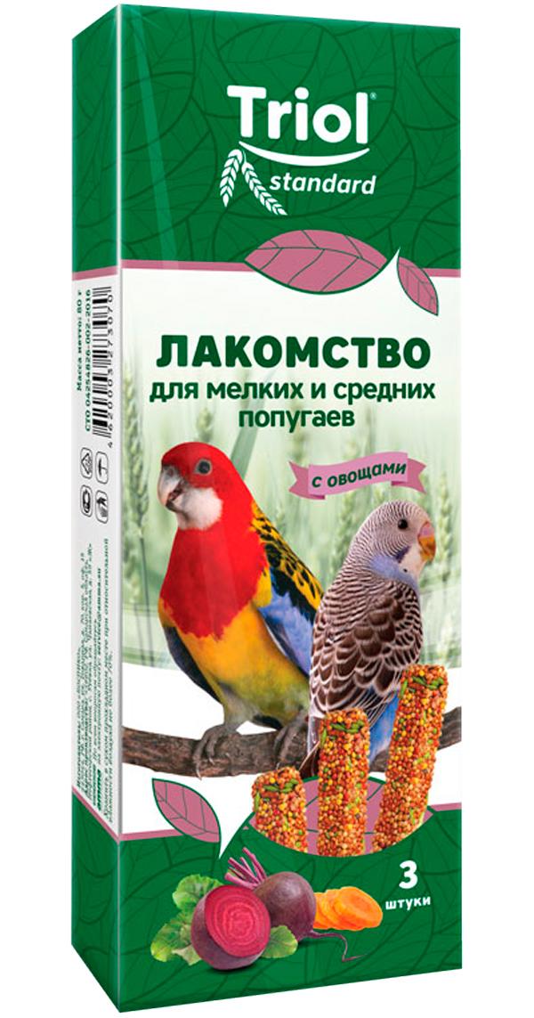 Triol Standard лакомство для средних и мелких попугаев с овощами (3 шт)