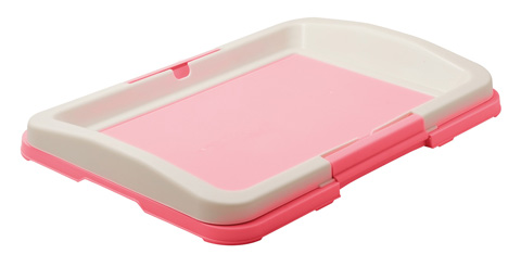 Туалет для собак японский стиль малый розовый 48 х 35 х 6 см V.I.Pet (1 шт) туалет для собак v i pet японский стиль со столбиком цвет серый молочный 48 см х 35 см х 5 см