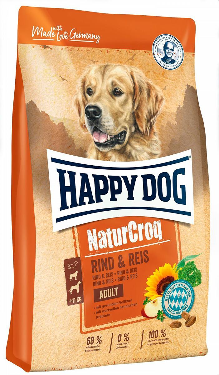 Happy Dog Naturcroq Rind & Reis для взрослых собак всех пород с говядиной и рисом (15 + 15 кг)