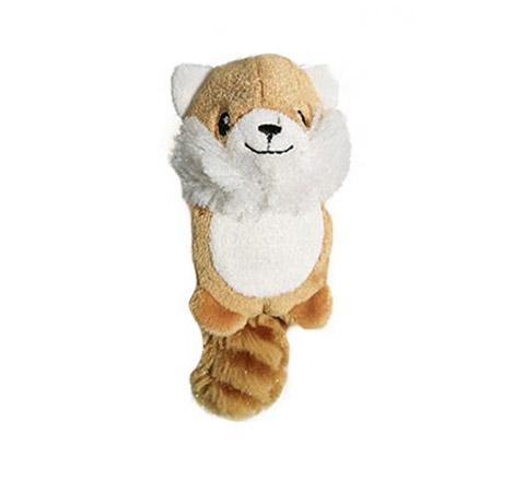 Игрушка для собак Лисичка с 2 пищалками без набивки 10 см GiGwi (1 шт)