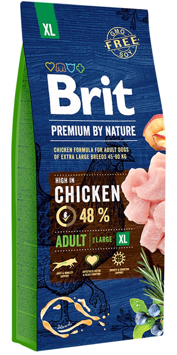 Brit Premium By Nature Adult Xl для взрослых собак крупных пород (15 кг) фото