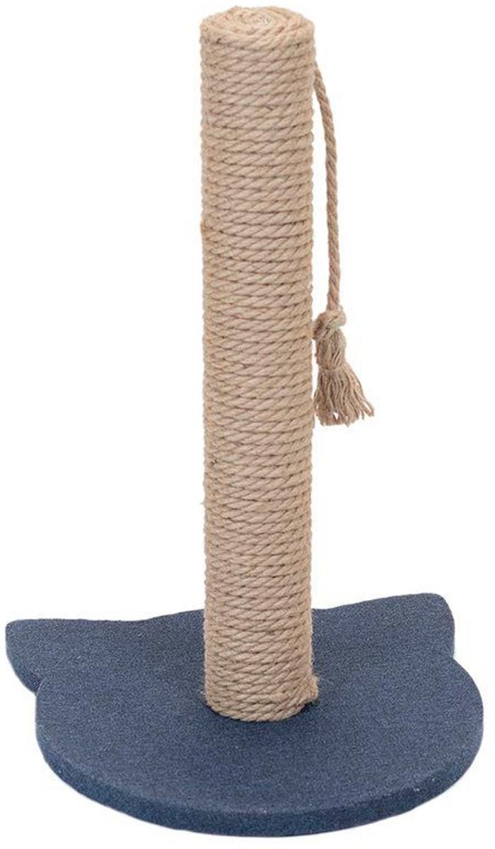 Когтеточка столбик Дарэлл Navy рогожка джут 32 х 31 х 47 см (1 шт) когтеточка дарэлл джут 95 круглая с 2 полками серая 56 х 36 х 52 см 1 шт