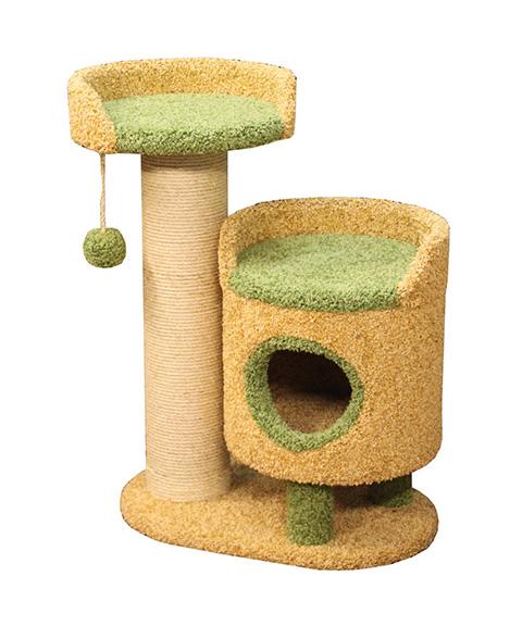 Комплекс Зё Пушок ковролин бежевый с зеленым (1 шт) фото