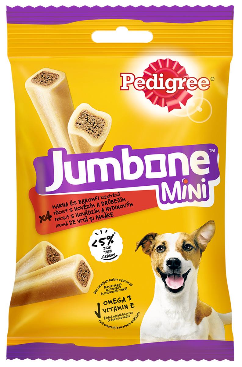 Лакомство Pedigree Jumbone Mini для собак маленьких пород кости с говядиной и птицей 160 гр уп. 4 шт (1 шт)