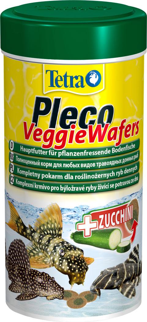 Tetra Pleco Veggie Wafers корм чипсы для растительноядных донных рыб (250 мл) фото
