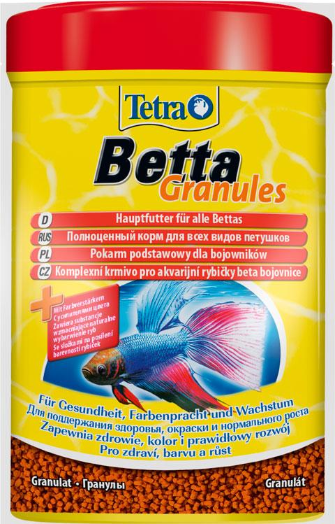 Tetra Betta Granules – Тетра корм-гранулы для петушков и других лабиринтовых рыб (5 гр) корм для рыб tetra betta в виде гранул 5г