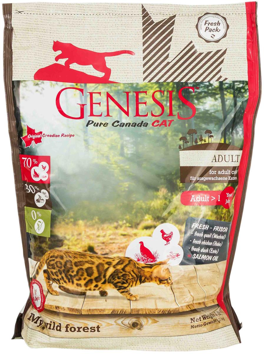 Genesis Pure Canada My Wild Forest Adult беззерновой для взрослых кошек с уткой, перепелкой и курицей (0,34 кг)
