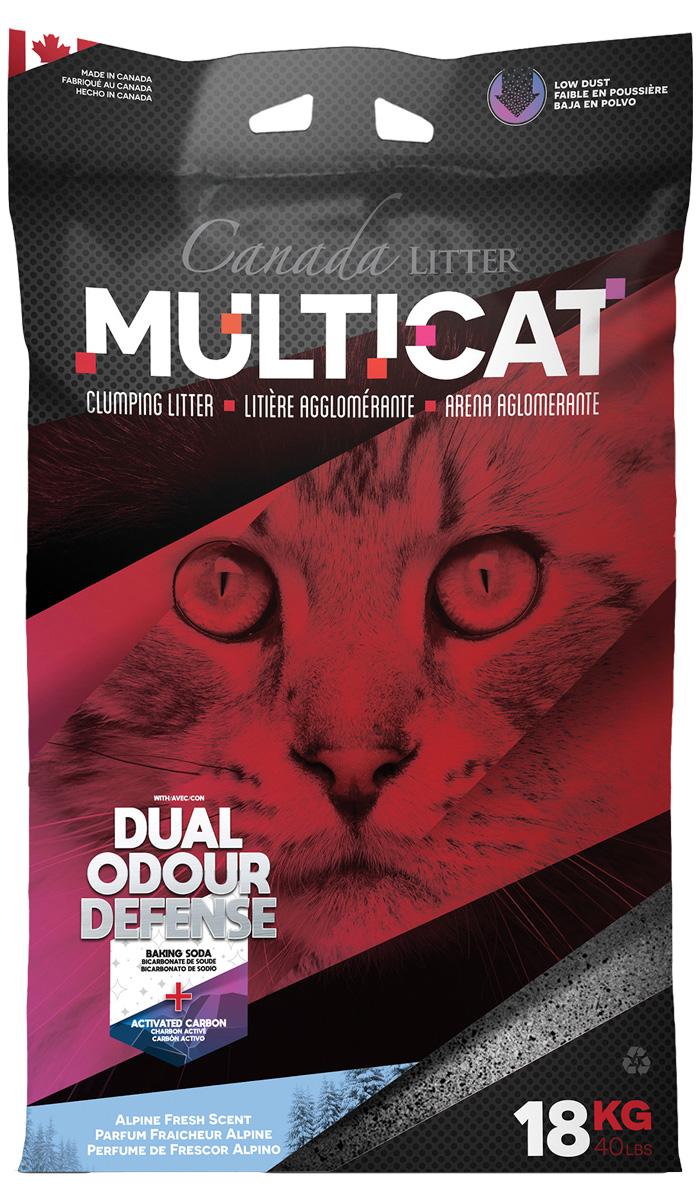 Canada Litter Multicat наполнитель комкующийся для туалета кошек с ароматом альпийской свежести (18 кг)