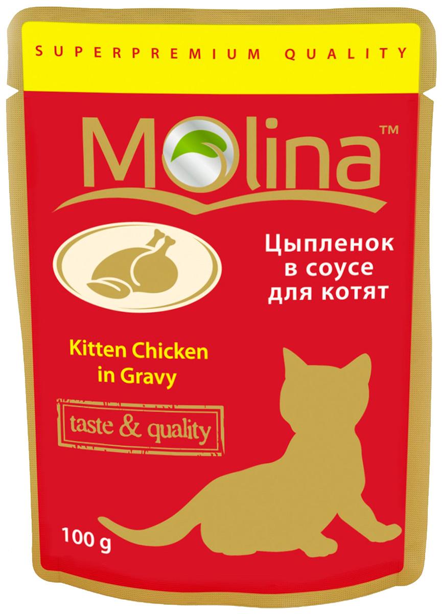 Molina для котят с цыпленком в соусе 100 гр (100 гр)