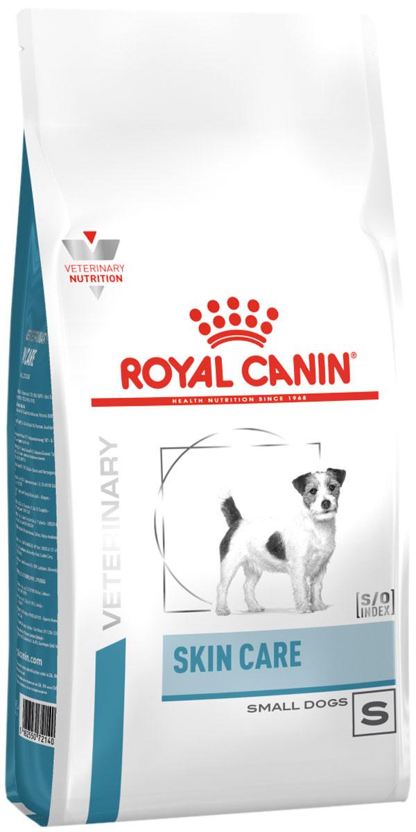 Royal Canin Skin Care Small Dog S для взрослых собак маленьких пород при дерматозах (2 кг)