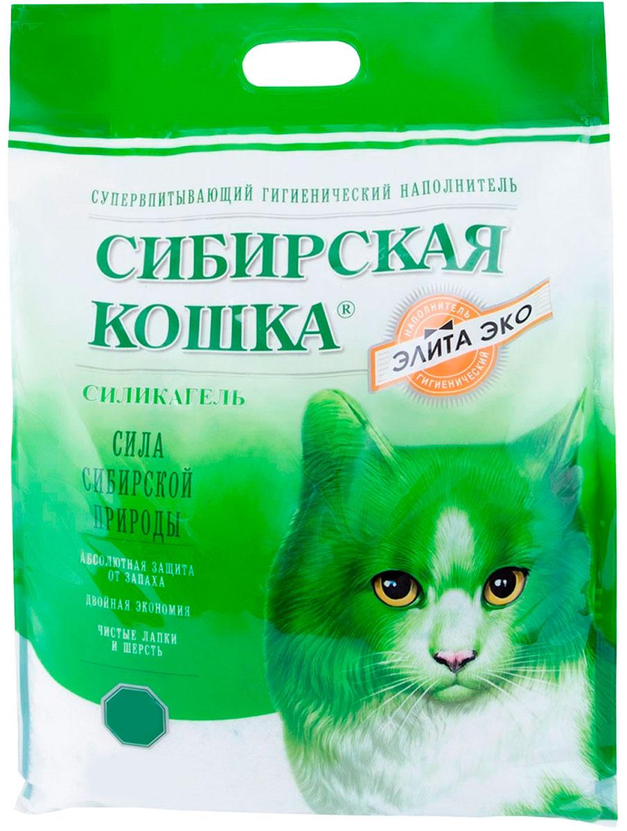 сибирская кошка элитный эко наполнитель силикагелевый для туалета кошек (8 + 8 л)