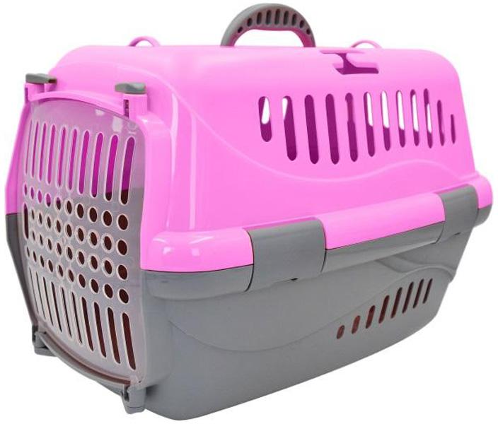 Переноска для животных Homepet розовая 48 х 32 х 32 см (1 шт) переноска для животных triol premium large 80 1 х 56 2 х 59 см 1 шт