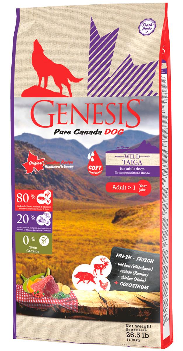 Genesis Pure Canada Wild Taiga Adult Soft беззерновой для взрослых собак всех пород при аллергии с кабаном, оленем и курицей (11,79 кг)