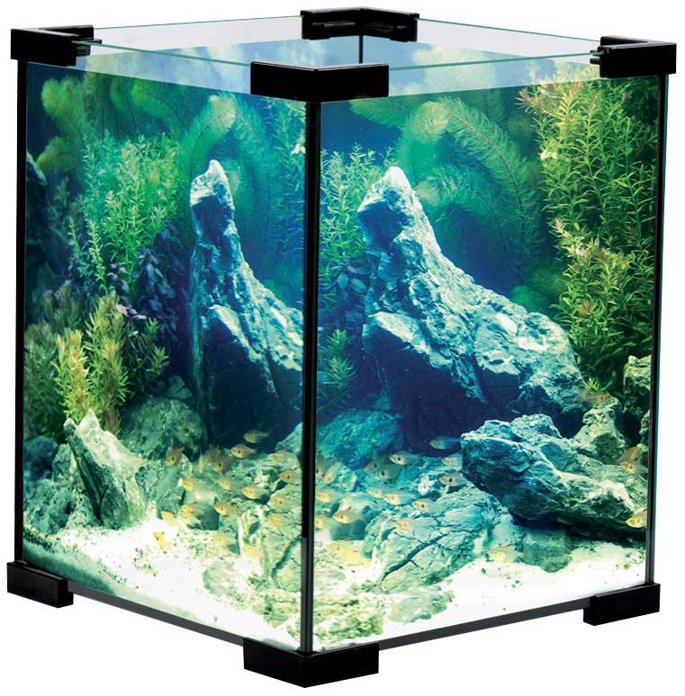 Аквариум Laguna Crystal 6001b черный 15 литров (1 шт) фото