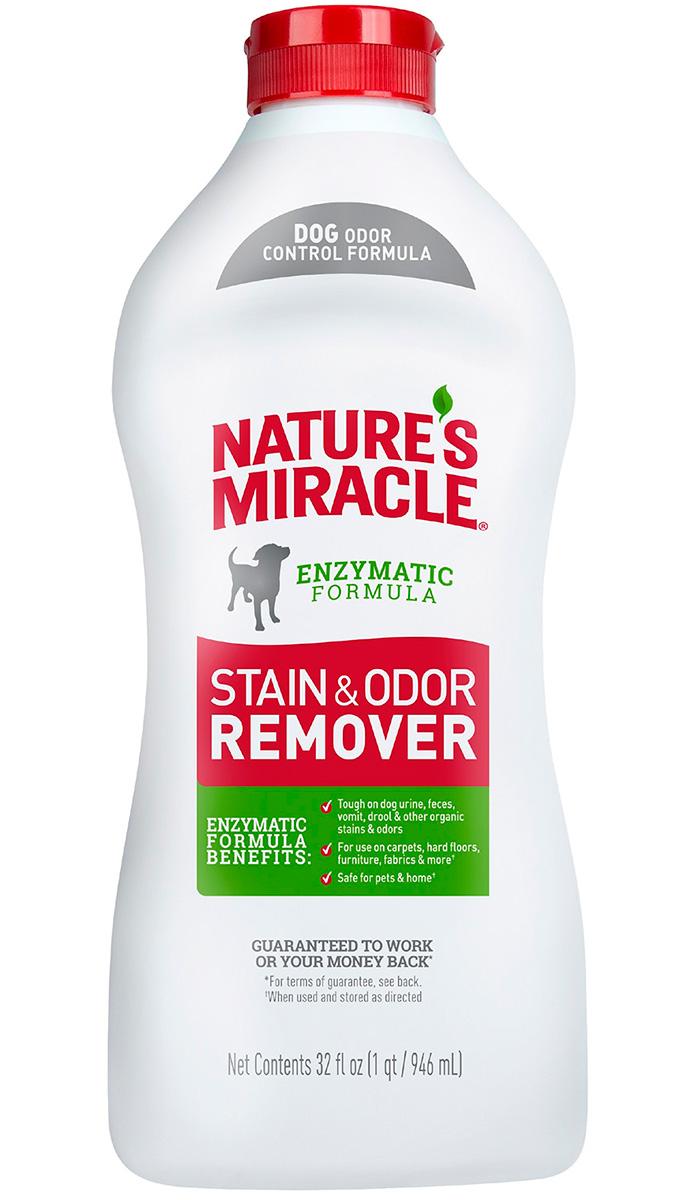 8 in 1 Nature's Miracle Stain & Odor Remover универсальный уничтожитель пятен и запахов для собак 946 мл (1 шт) спрей nature s miracle уничтожитель пятен и запахов no more marking против повторных меток 709 мл