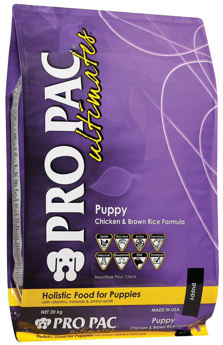 Pro Pac Ultimates Puppy Chicken Meal & Brown Rice для щенков, беременных и кормящих сук с курицей и рисом (20 + 20 кг) фото