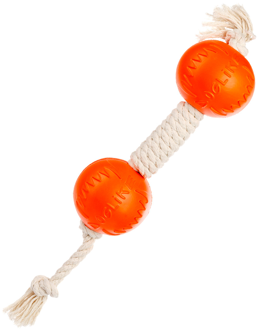 Гантель для собак Doglike Dental Knot канатная белая малая (1 шт)