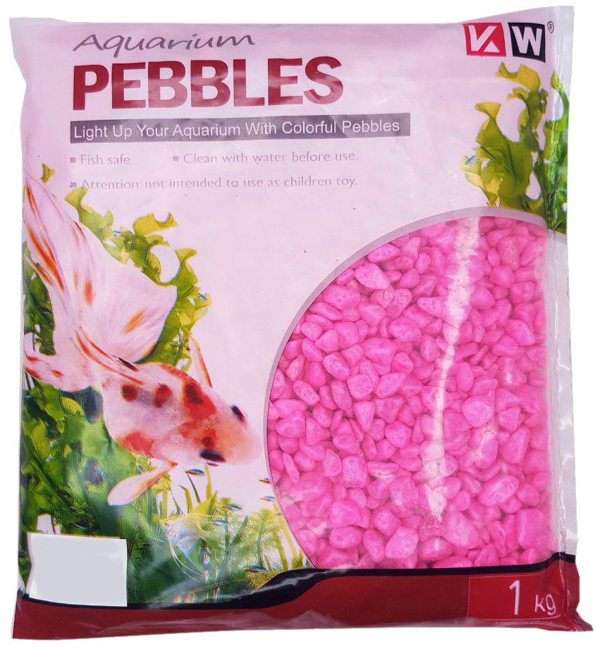 Грунт для аквариума Гравий розовый неоновый светящийся
