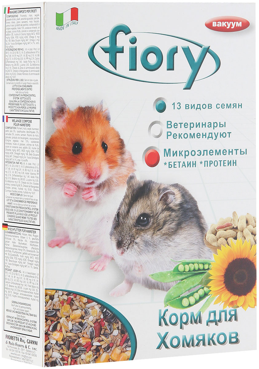 Fiory Criceti — Фиори корм для хомяков (850 гр) fiory fiory корм для крольчат micropills baby rabbits