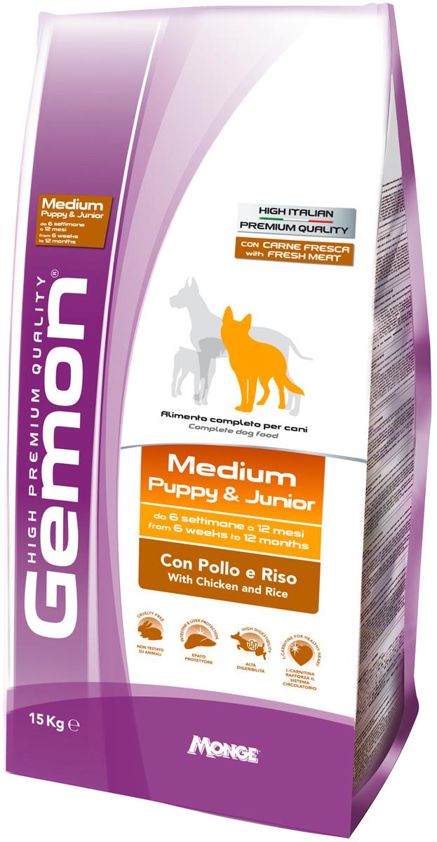 Gemon Puppy Medium для щенков средних пород с курицей и рисом (3 + 3 кг)