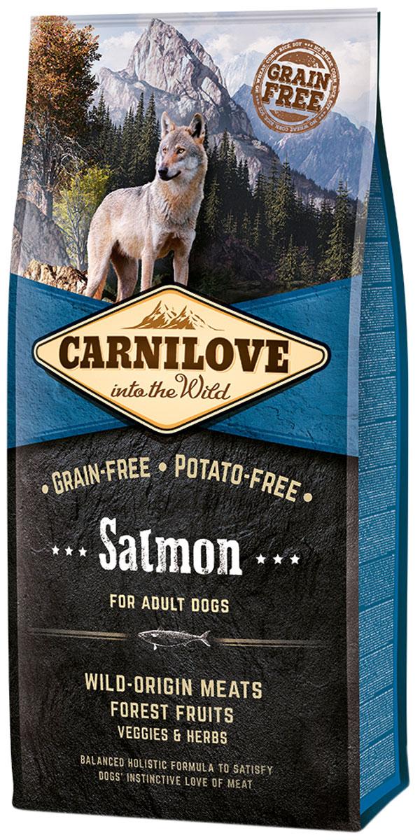 Brit Carnilove Dog Adult Salmon беззерновой для взрослых собак всех пород с лососем (1,5 кг)